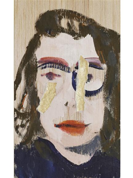 Selfie / mixed media on wood / 16 x 10 cm / 2017