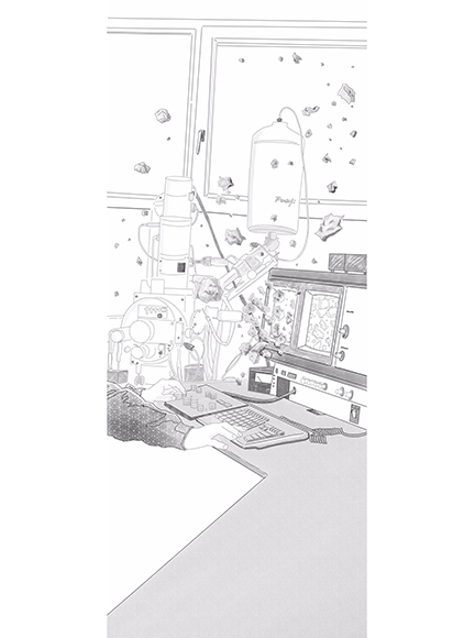 Lab / Digital art / 83 x 200 cm / 200