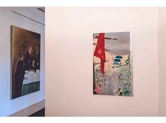 Nātres Installation View / acrylic and print  on wood / 120 x 40 cm / 2020