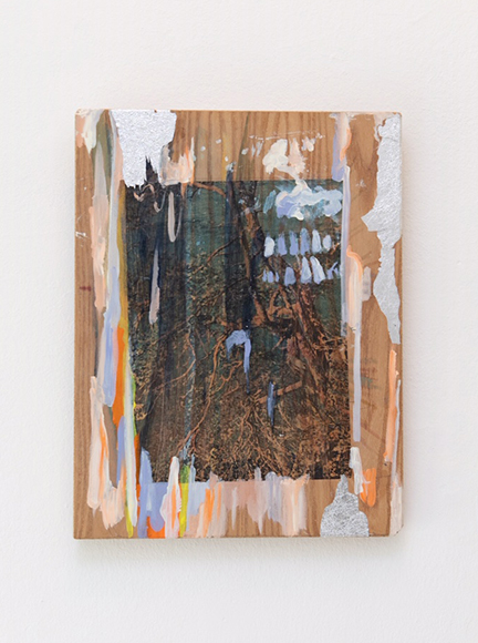 Whatever is Left / acrylic and print on wood / 40 x 30 cm / 2020
