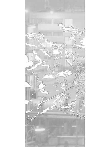 Worker / Digital art / 83 x 200 cm / 200