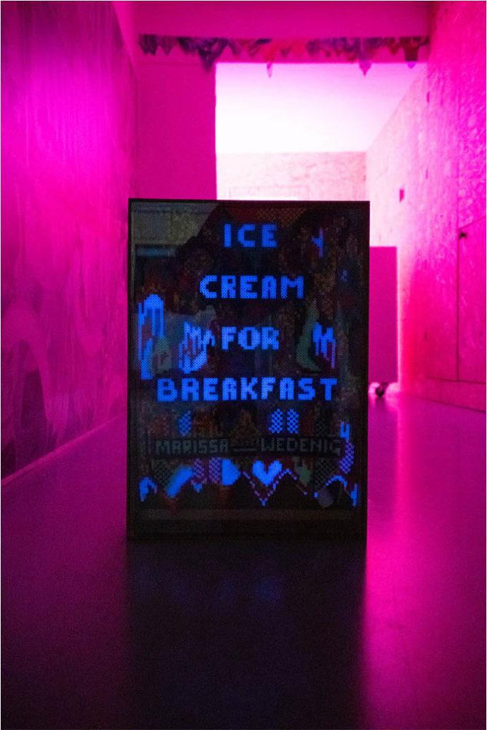 Ice Cream for Breakfas installation view at Kunstraum Super
